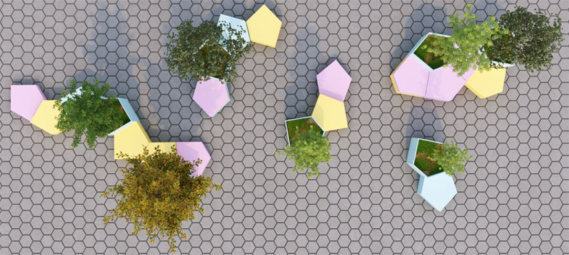 Estudiantes de Arquitectura de UIC Barcelona idean un prototipo de mobiliario urbano flexible e inclusivo