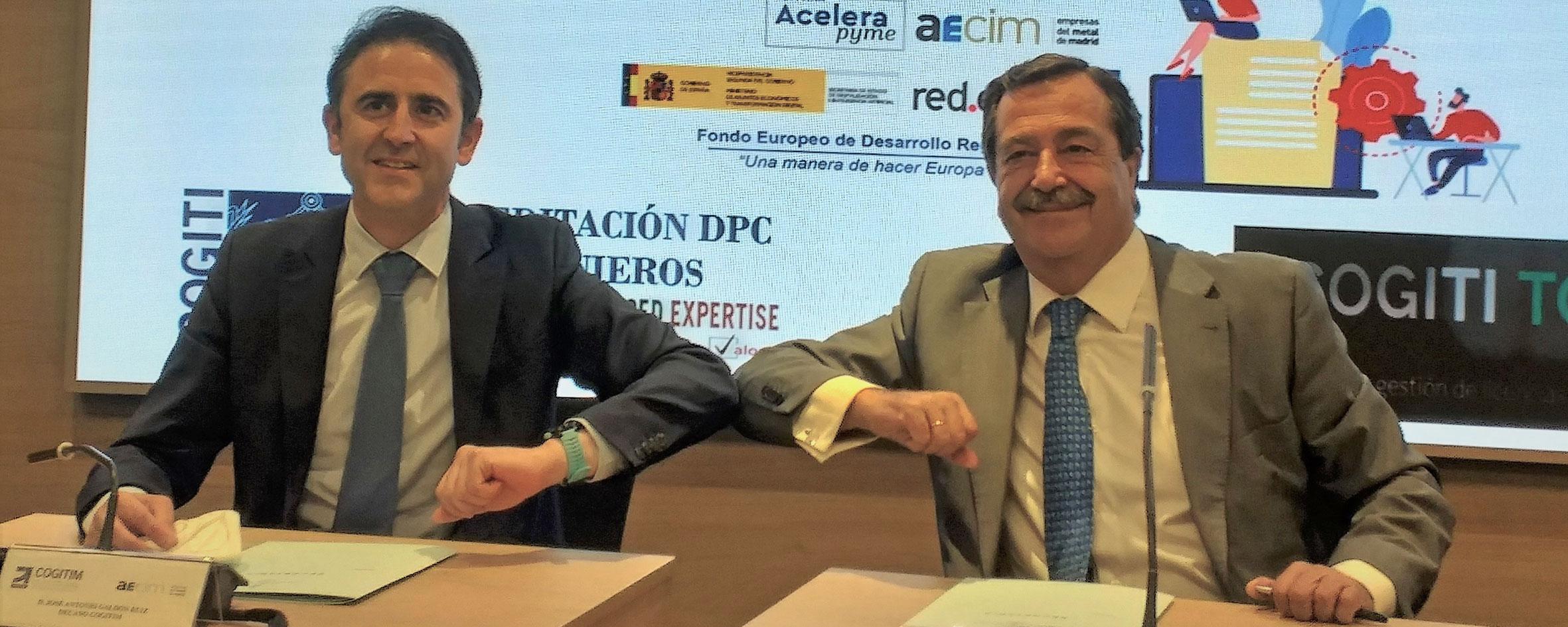 AECIM y el Colegio Oficial Graduados e Ingenieros Técnicos Industriales de Madrid firman un convenio para impulsar el sector industrial
