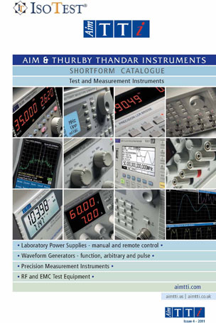 Catalogo de TTI Instruments