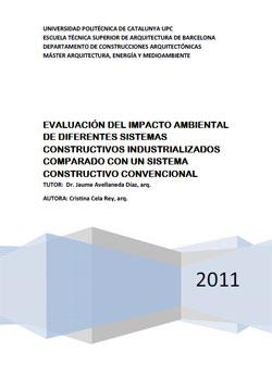 Documento de Evaluación del impacto ambiental de diferentes sistemas constructivos