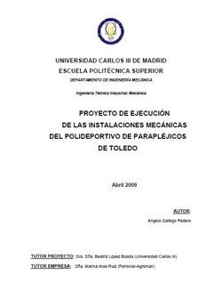 Documento de Instalaciones mecánicas